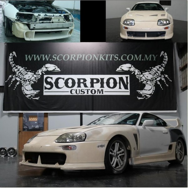 TOYOTA SUPRA WIDE BODY KIT (FRONT BUMPER FB-1004 , FRONT BONET BNC-B45 , FRONT FENDER FND-16F, SIDE SKIRT SK-3020 , REAR FENDER FND-16R , REAR BUMPER RB-447 , REAR SPOILER RSP-777 )3