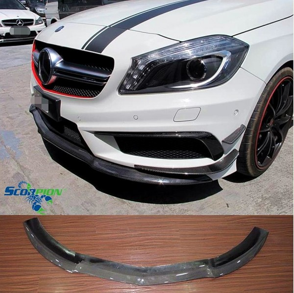 BENZ W176 A45 CARBON FRONT SKIRT COVER ( FL - 2064 )1