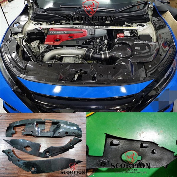 CIVIC FK8R ENGINE CARBON COVER ( MG-157 )1