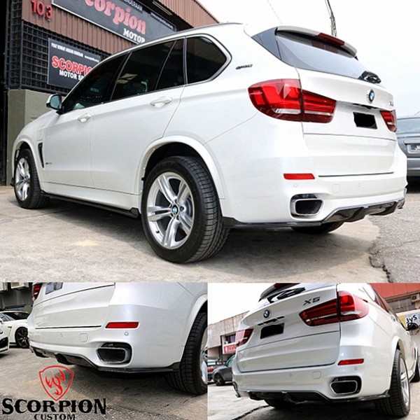 BMW X5 F15 REAR CARBON 3 PCS SKIRT ( RL 5019 )1