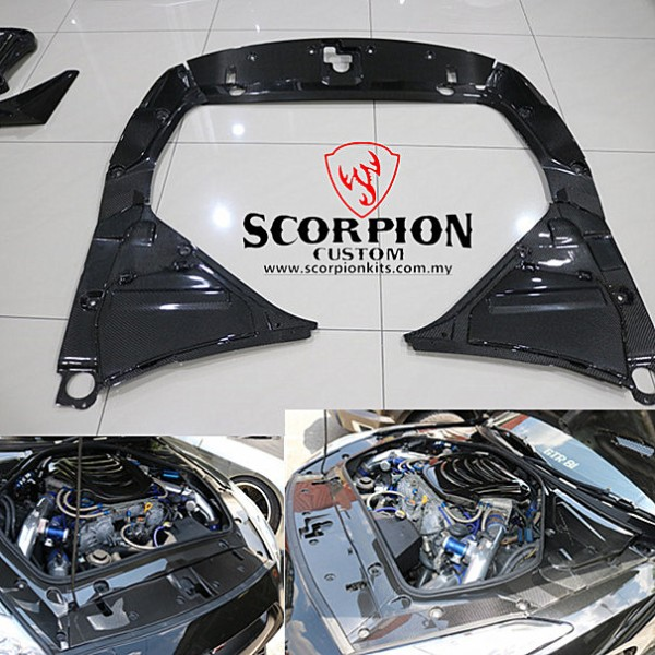 GTR 35 ENGINE PANEL CARBON COVER ( MG 106 )1