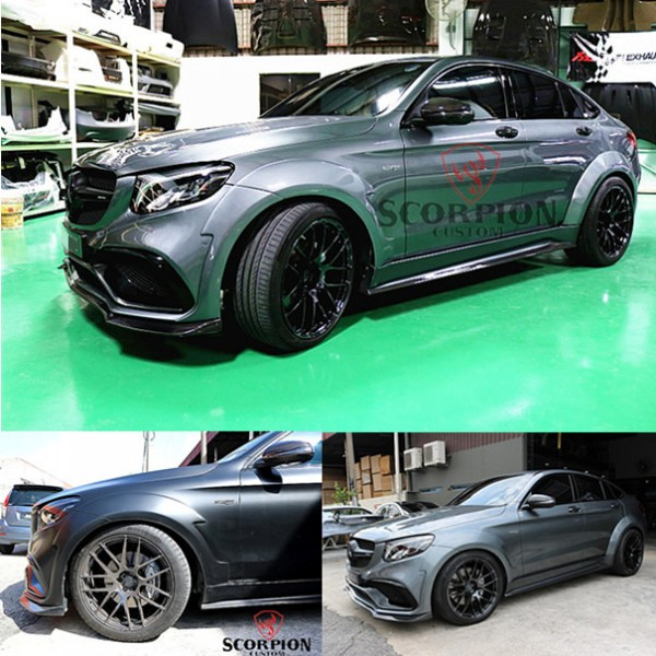 BENZ GLC COUPE WIDE FENDER 38MM & SIDE SKIRT SCP DESIGN1