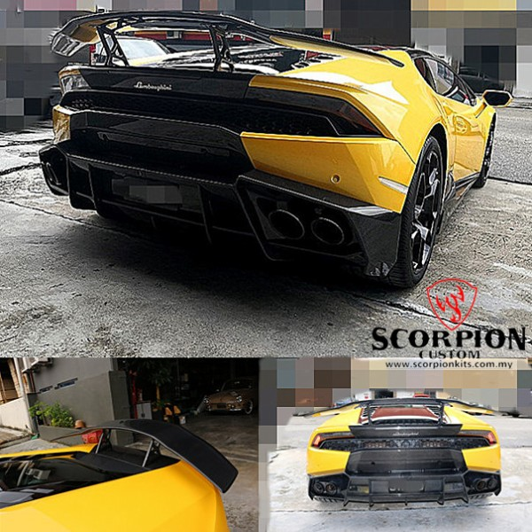 HURACAN M STYLE REAR CARBON SPOILER ( RSP 7010 )1