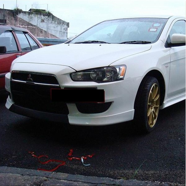 MITSUBISHI LANCER 08 CENTER LIP ( FIBER ) MATT BLACK (FL- 2008 )2
